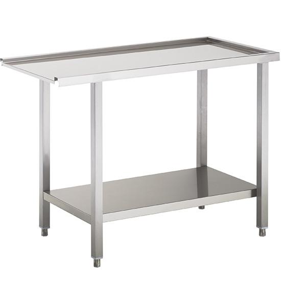 Auslauftisch oder Zulauftisch für Korbdurchschubspüler, B=1500 mm