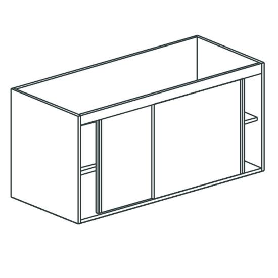 Arbeitsschrank, mit Schiebetüren, mit Zwischenboden, 2000x700 mm