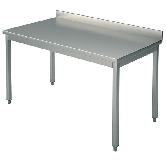 Arbeitstisch, auf Beinen 40x40 mm, mit Rahmen, mit Aufkantung, 1100x800 mm