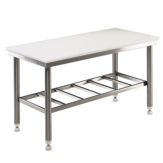 Arbeitstisch mit Polyäthylen-Fläche, 2000x700, Stärke 25 mm