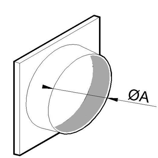 Ansaugstutzen, Ø 350 mm, für Aluminium Flexrohr