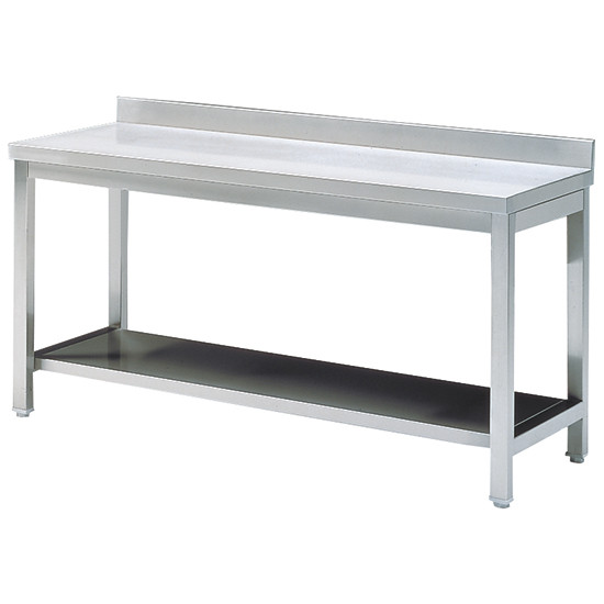 Arbeitstisch mit Zwischenboden, mit Aufkantung, 2000x600 mm