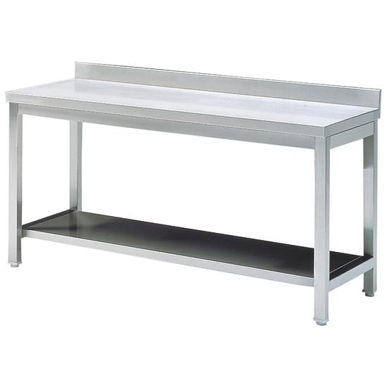Arbeitstisch mit Zwischenboden, mit Aufkantung, 600x600 mm