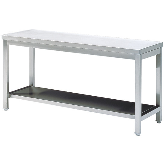 Arbeitstisch mit Zwischenboden, ohne Aufkantung, 1100x600 mm