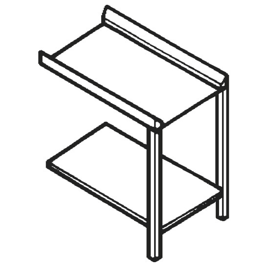 Auslauftisch oder Zulauftisch für Durchlaufspüler, B=1000 mm