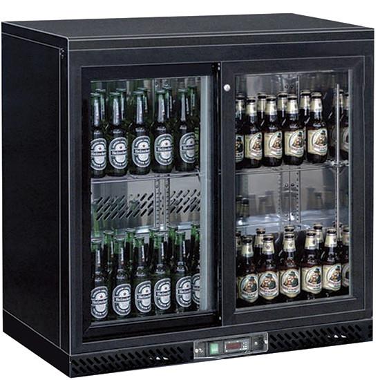 Flaschenkühler für Unterbau mit 2 Flügeltüren
