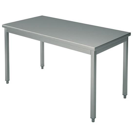 Arbeitstisch, auf Beinen 40x40 mm, mit Rahmen, ohne Aufkantung, 2600x1200 mm