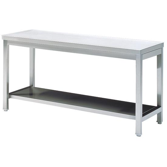 Arbeitstisch mit Zwischenboden, ohne Aufkantung, 1600x700 mm
