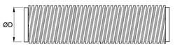 flexibles Aluminiumrohr, Ø 400 mm