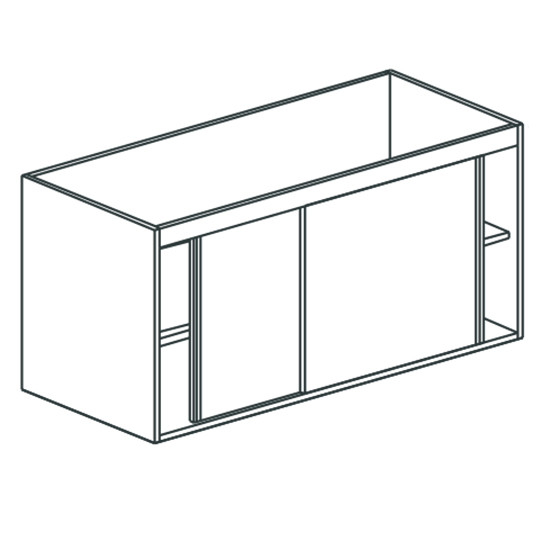 Arbeitsschrank, mit Schiebetüren, mit Zwischenboden, 1200x700 mm