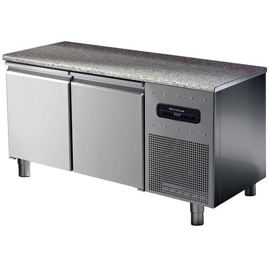 Bäckereikühltisch 2-türig 600x400 mm mit Granitarbeitsplatte