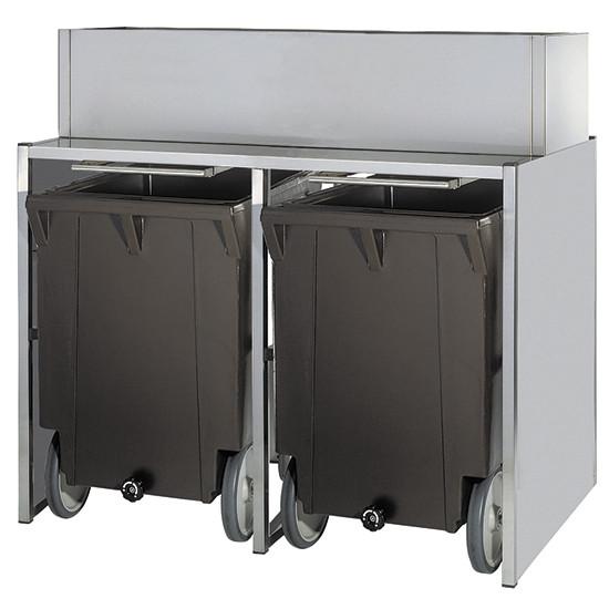 Eiswürfelbehälter auf Rädern, 50+2x108 kg, für KUEI EF01 105